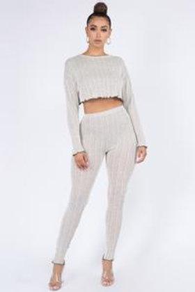 Knit pants set
