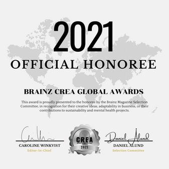 This Girl Has Been Awarded The Brainz CREA Global Award!