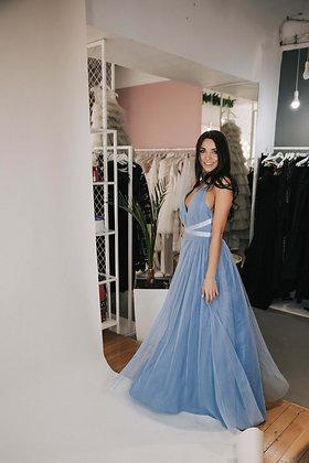 Платье фатиновое голубое