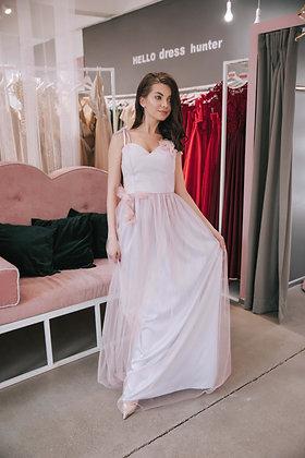 Платье фаиновое сиреневого цвета