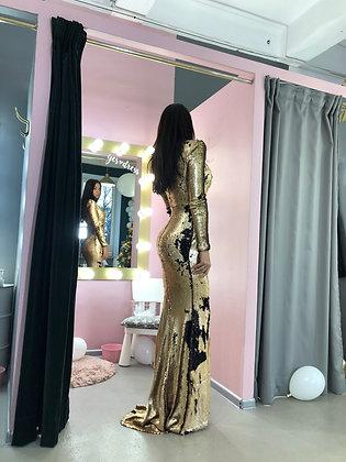 Платье из двухсторонней пайетки