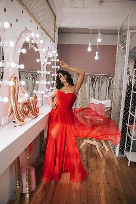 Платье красное шифоновое To be Bride