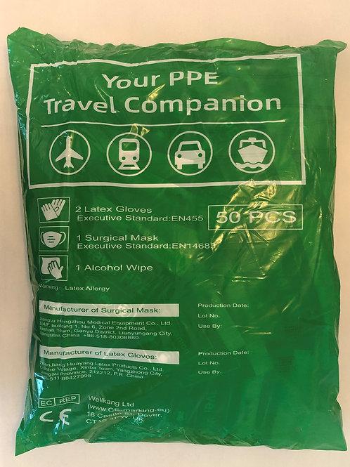 Travel PPE bag of 50 packs