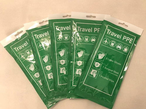 Travel PPE five pack