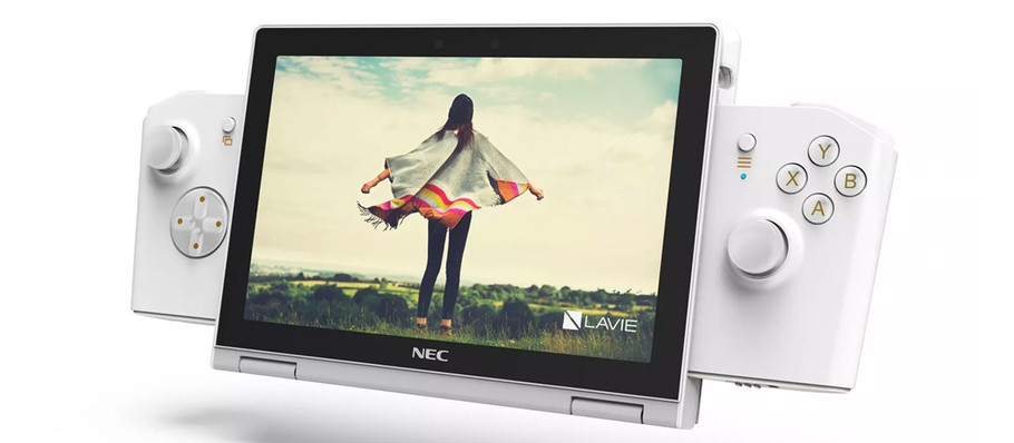 "Lenovo and NEC Release Handheld PC Gaming Device Prototype ""LaVie Mini"""