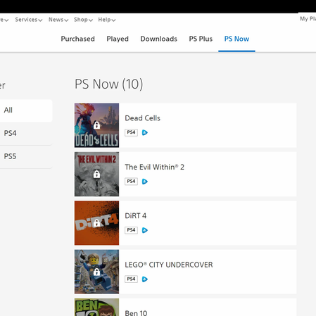 PlayStation Website Launches New Library Page for Your PS5, PS4 Games