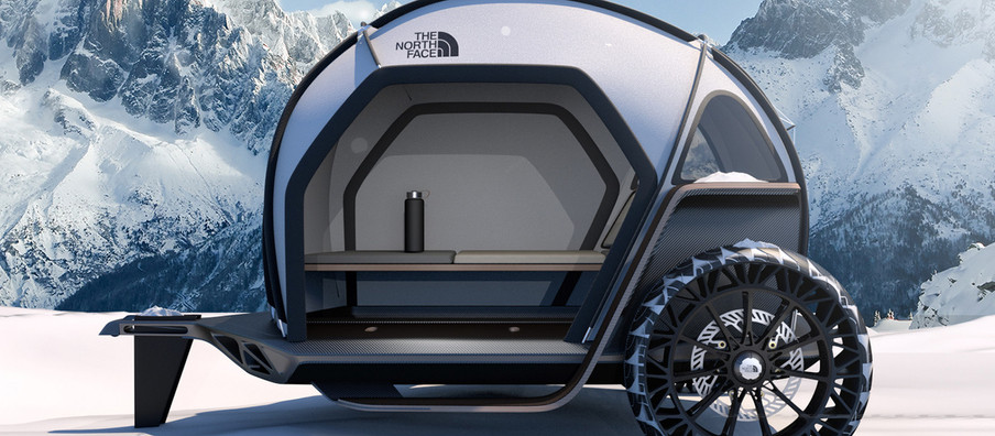 BMW Designworks and The North Face Come Together for a Futuristic Camper