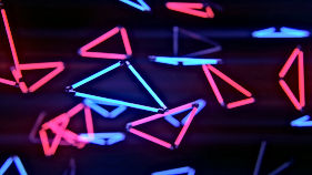 neon-triangular-lights_3840x2160_xtrafon