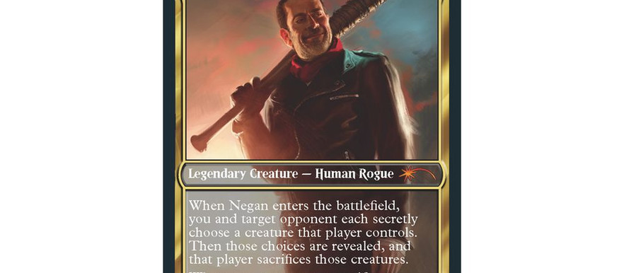 'The Walking Dead's Negan Is Now A Magic: The Gathering Card