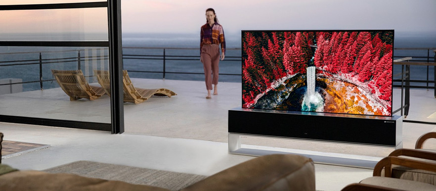 LG's SIGNATURE OLED R Rollable TV Hides Away Out of Sight for $87,000 USD