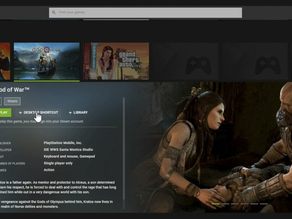 Leak Reveals God of War as a Steam Game on GeForce Now