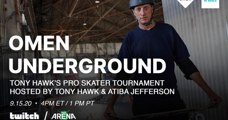 OMEN and Intel to Host 'Tony Hawk's Pro Skater' Tournament with Tony Hawk and Atiba Jefferson