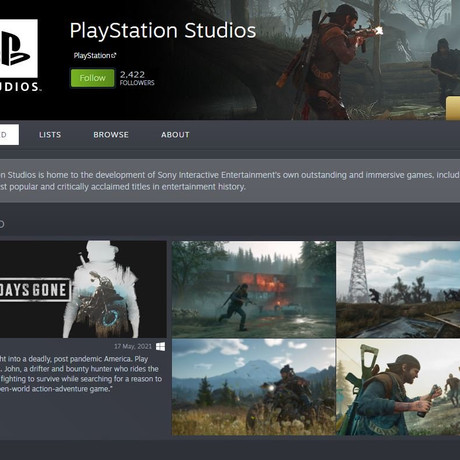 The Official PlayStation Page on Steam Leaks More Games Coming to PC