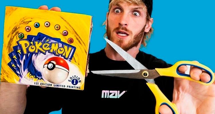 Watch Logan Paul Open a $1 Million USD Pokémon First Edition Base Set Booster Box