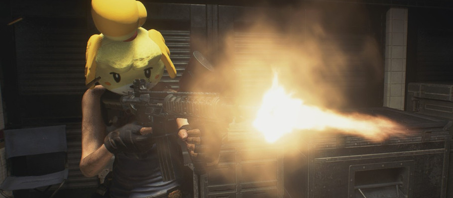Modder Turns 'Resident Evil 3's Jill Valentine into Isabelle from 'Animal Crossing'