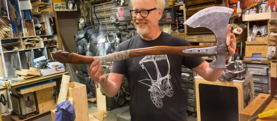 God of War Axe Is Perfectly Recreated by Mythbusters' Adam Savage