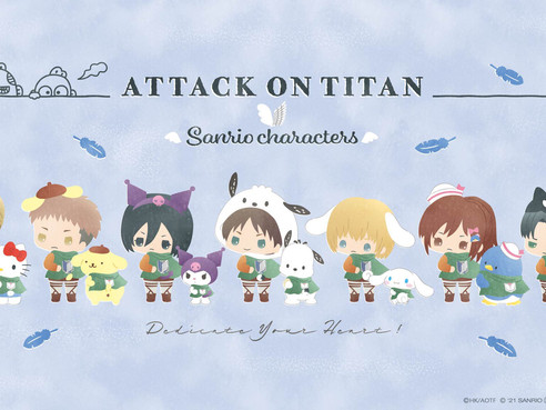 Attack On Titan x Sanrio Collaboration Officially Revealed
