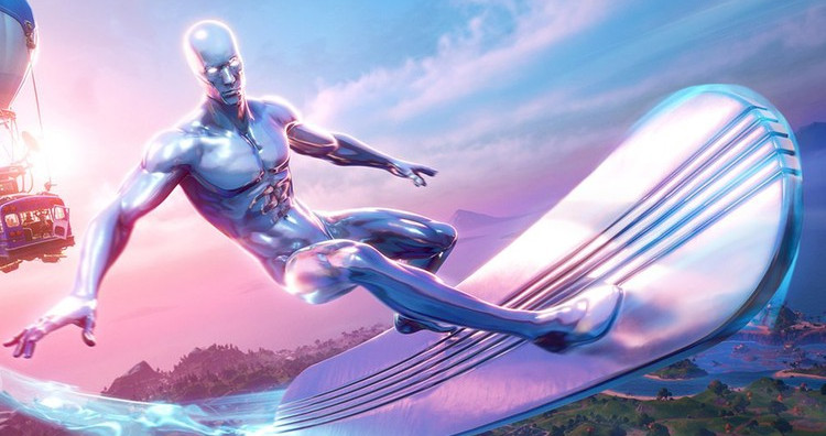 'Fortnite' Officially Adds Silver Surfer Skin