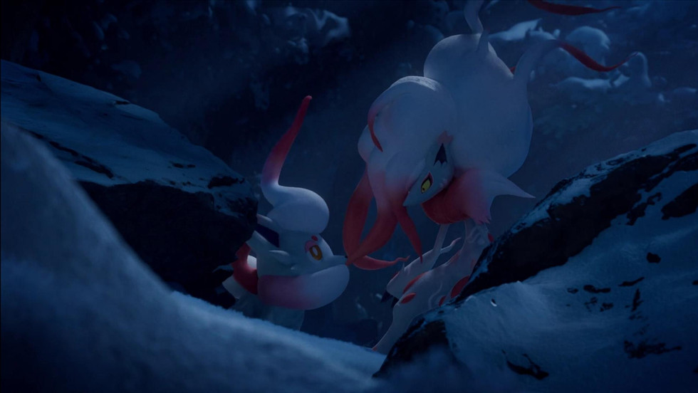 Pokemon Legends: Arceus video shows off Hisuian Zorua and Hisuian Zoroark