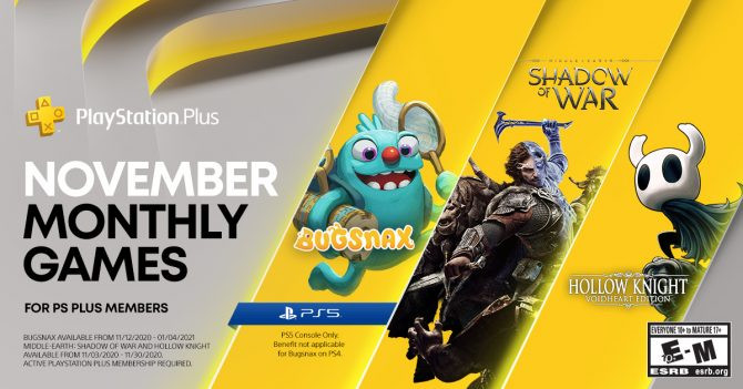 PS Plus November 2020 PS4 Games Announced,