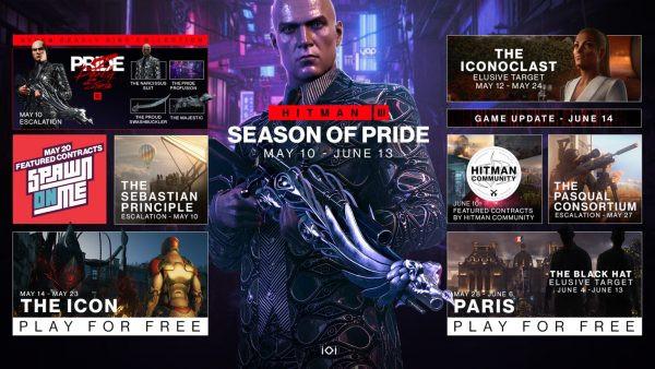 Hitman 3 Season of Pride roadmap revealed