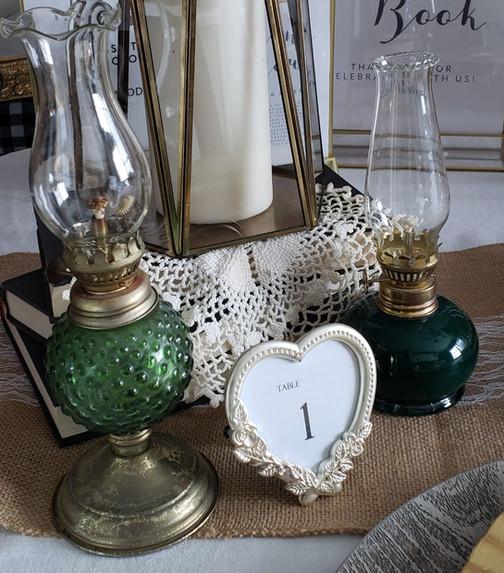 Mini hurricane oil lamps
