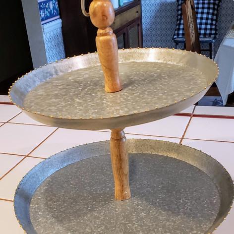 Galvanized tiered tray