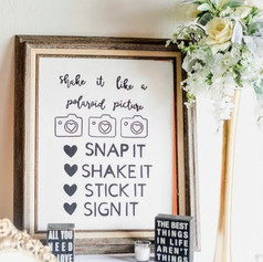 Snap it and Shake it Sign