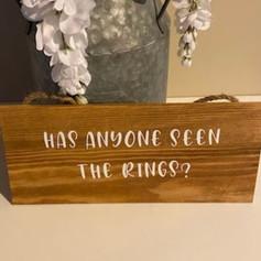 Ring bearer sign
