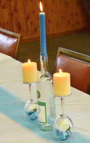 Wine bottle/glasses