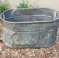 Metal bucket with handles