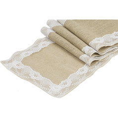 Burlap and Lace table runners
