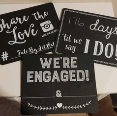 Chalkboard photo signs