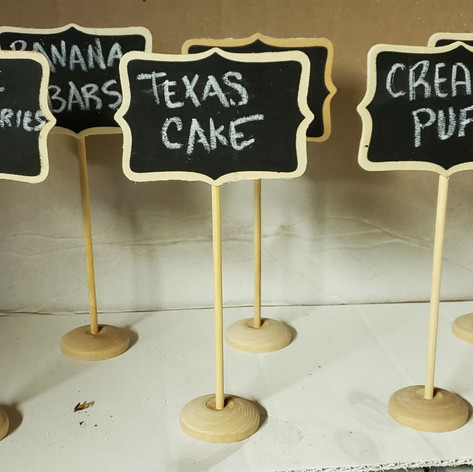 Wood stand chalkboard signs