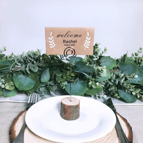 Wooden table number holder