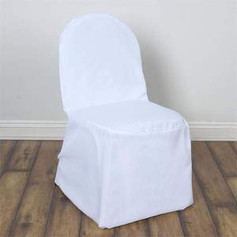 White polyester chair covers
