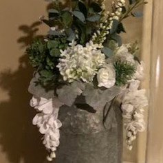 Milk Can with Florals