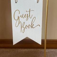 Guest Book gold