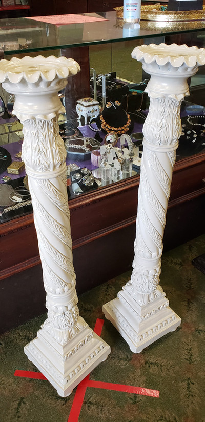 Large column candle holders