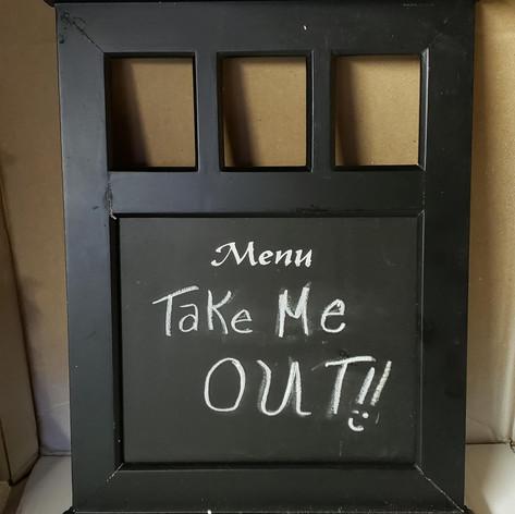 Tabletop Chalkboard Menu