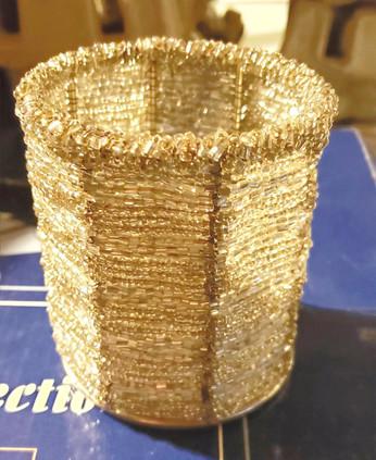 Gold beaded votives