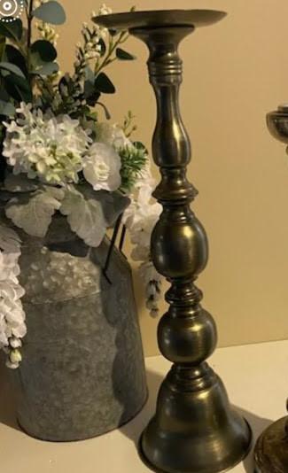 Bronze finish candlestick