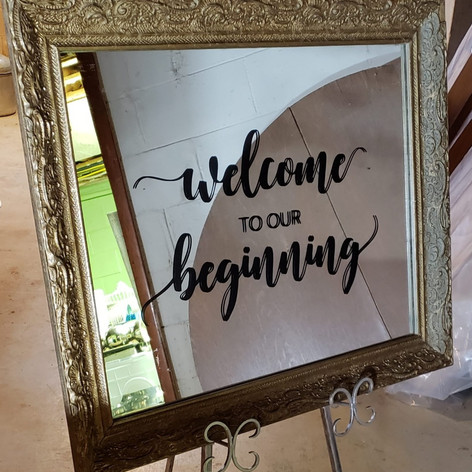 Welcome to Our Beginning Mirror
