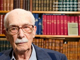 Semana Universitária da UnB homenageia Antonio Candido e discute direito à literatura