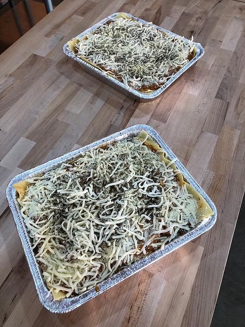 Half pan Traditional Beef Lasagna - 4 layer feeds 6