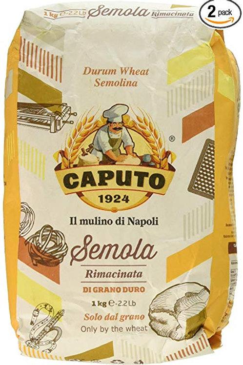 Caputo Semola Di Grano Duro Rimacinata Semolina Flour 1 kg Bag (2.2 pounds)