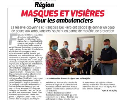 Retour presse / Action de solidarité / Central Ambulance / La Sambre / Juin 2020