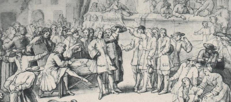 Enrolement vers 1700