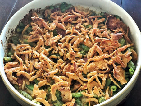 Easy Green Bean Casserole - (mostly) From Scratch!