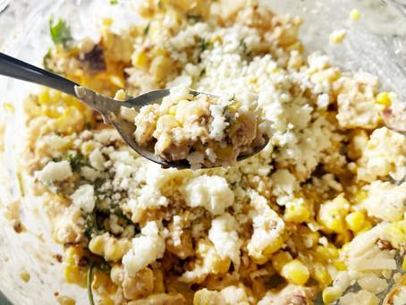 Corn Salad with Cotija and Adobo Crema